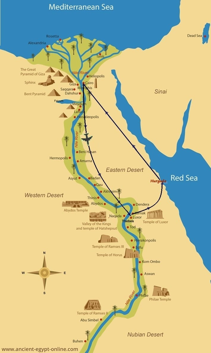Cairo, Luxor to Hurghada - With Misr Travel