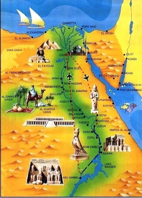 Egypt : Pyramids to Abu simbel by road