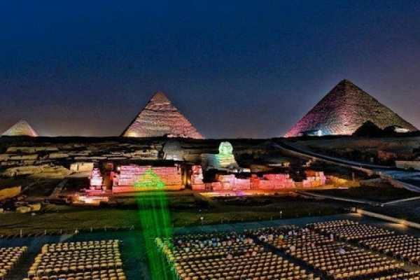 Giza Pyramids evening sound & light - Misr Travel