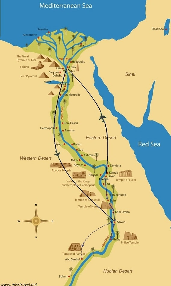 Ancient Egypt & Nubia Tour -  Misr Travel